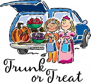 trunk-or-treat with kids logo